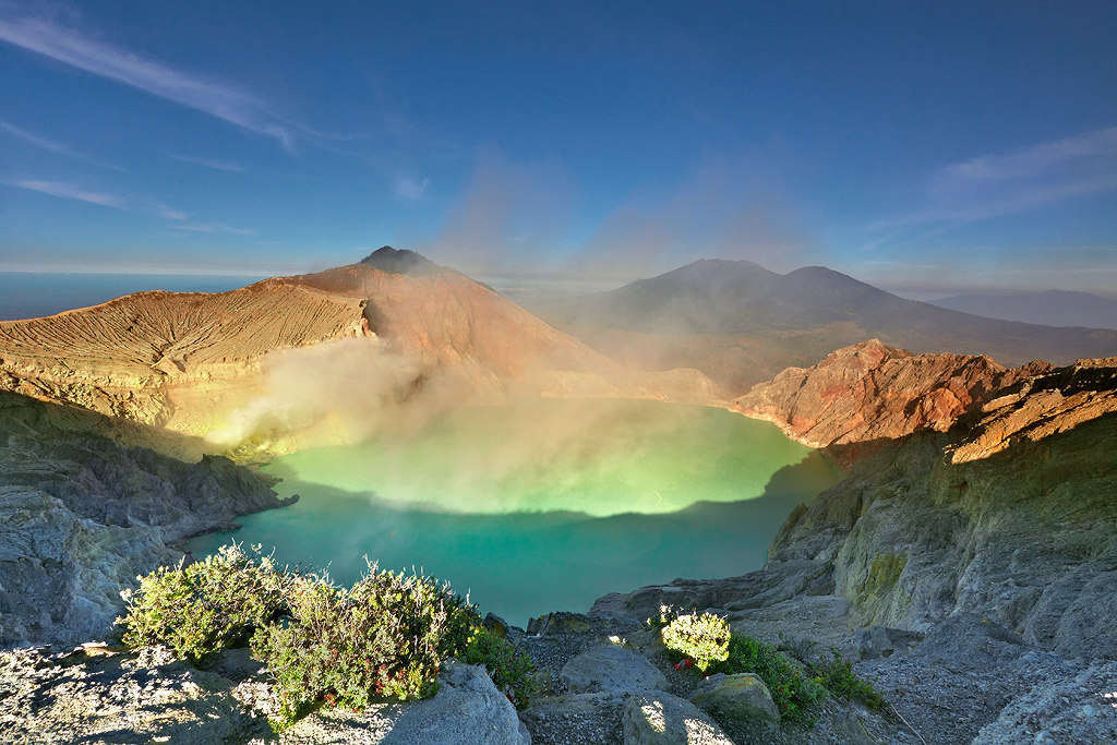 ijen volcano and its acidic lake