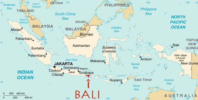 is indonesia in bali