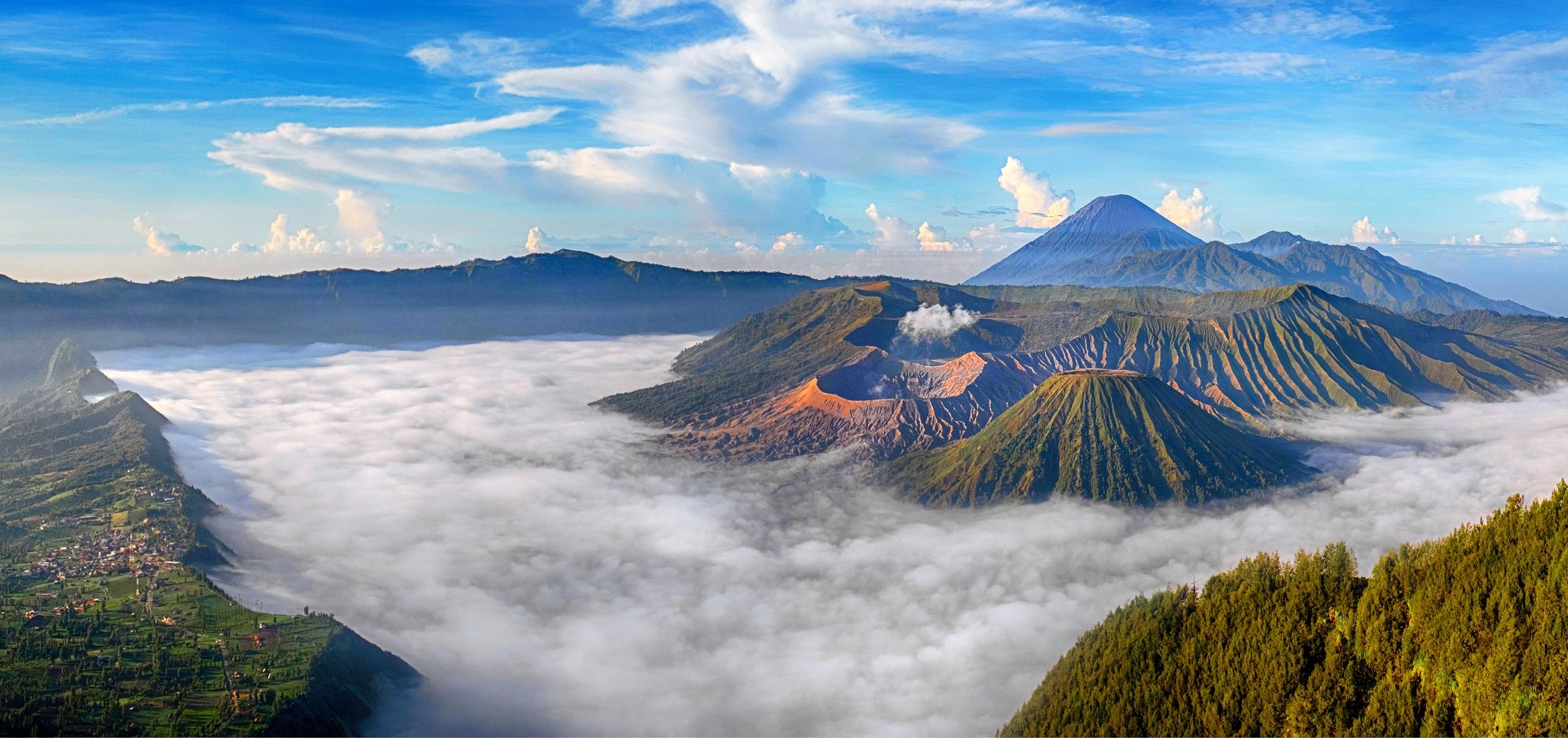 the bromo volcano
