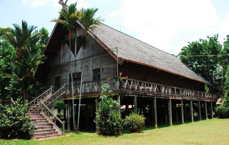 dayak longhouse