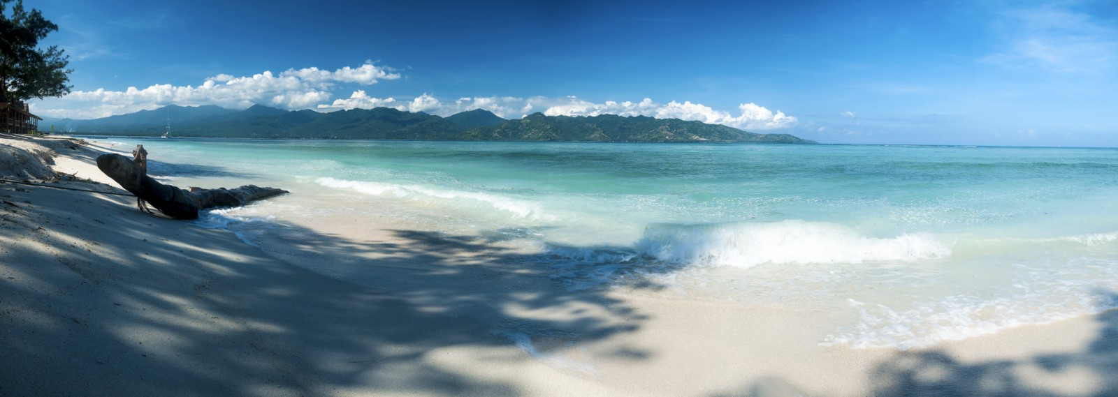 White sand beach lombok