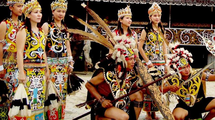 dayak tribe from kalimantan