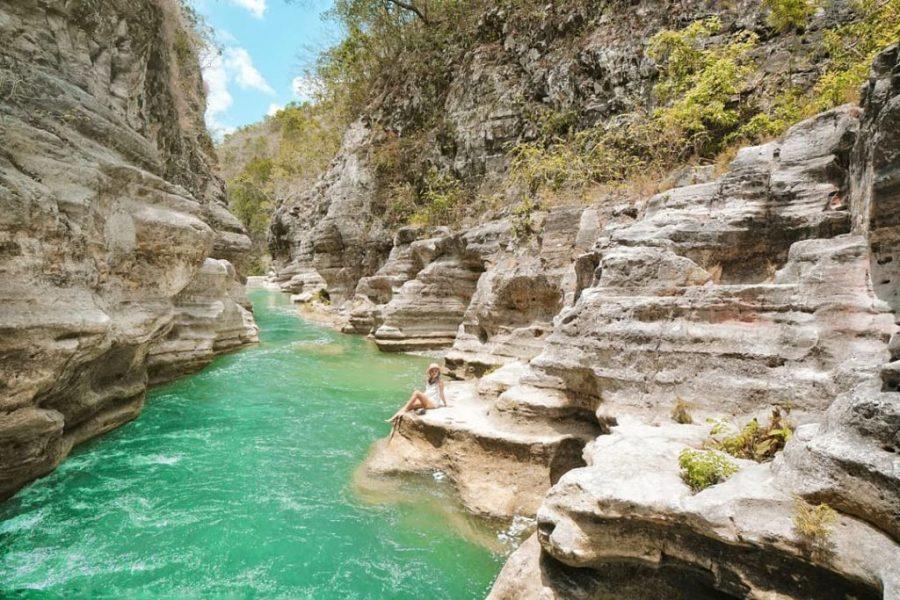 River tubing at Tanggedu Waterfall