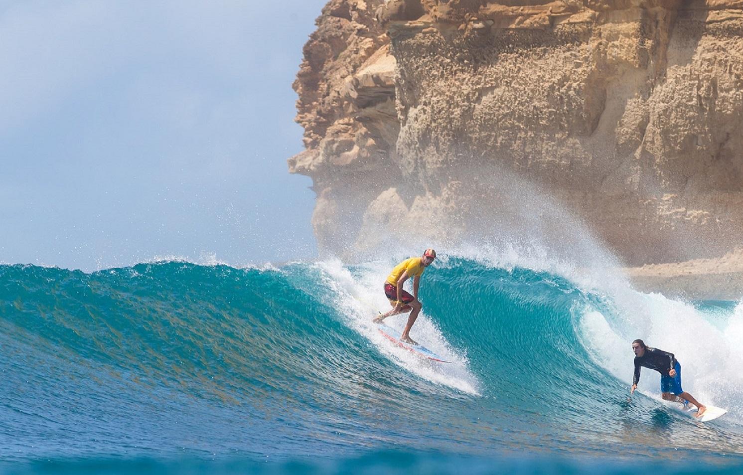 bangko-bangko beach surfing in lombok