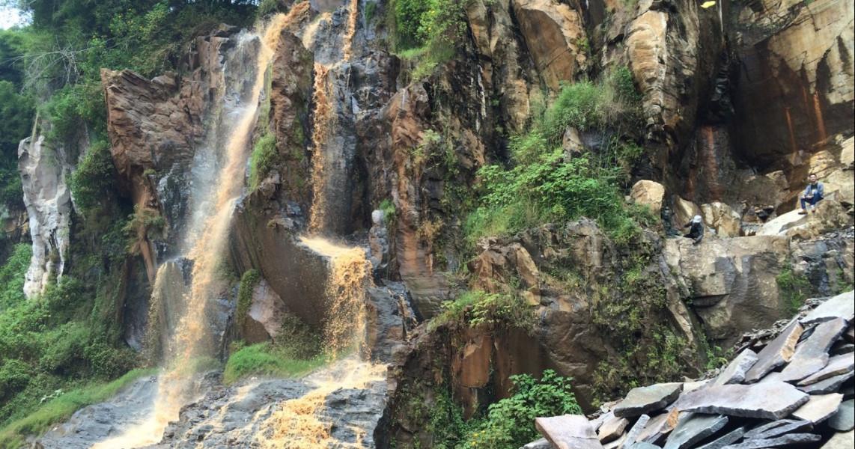 Curug Batu Templek waterfall Bandung