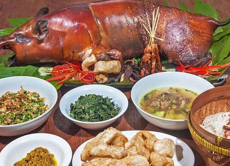 balinese babi guling dish