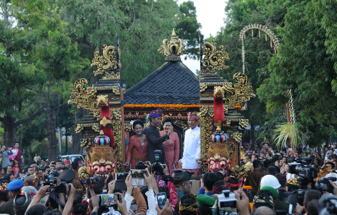 indonesia president on opening ceremony of bali arts festival