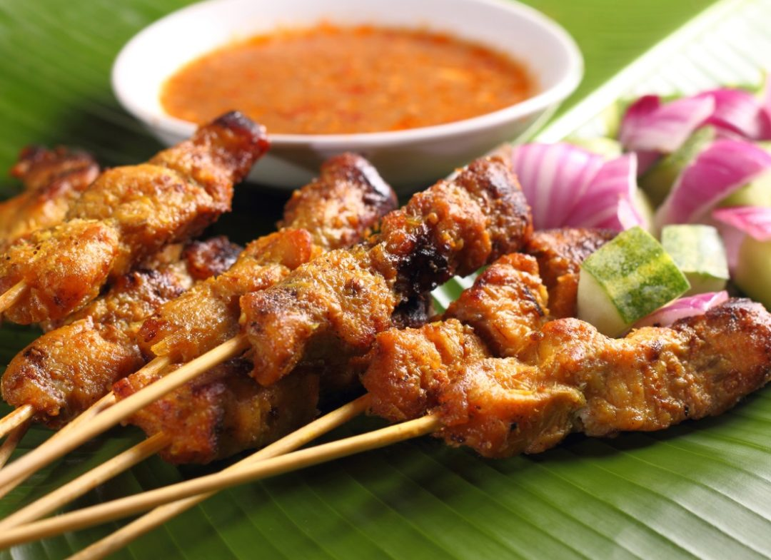 tasty chicken sate dish