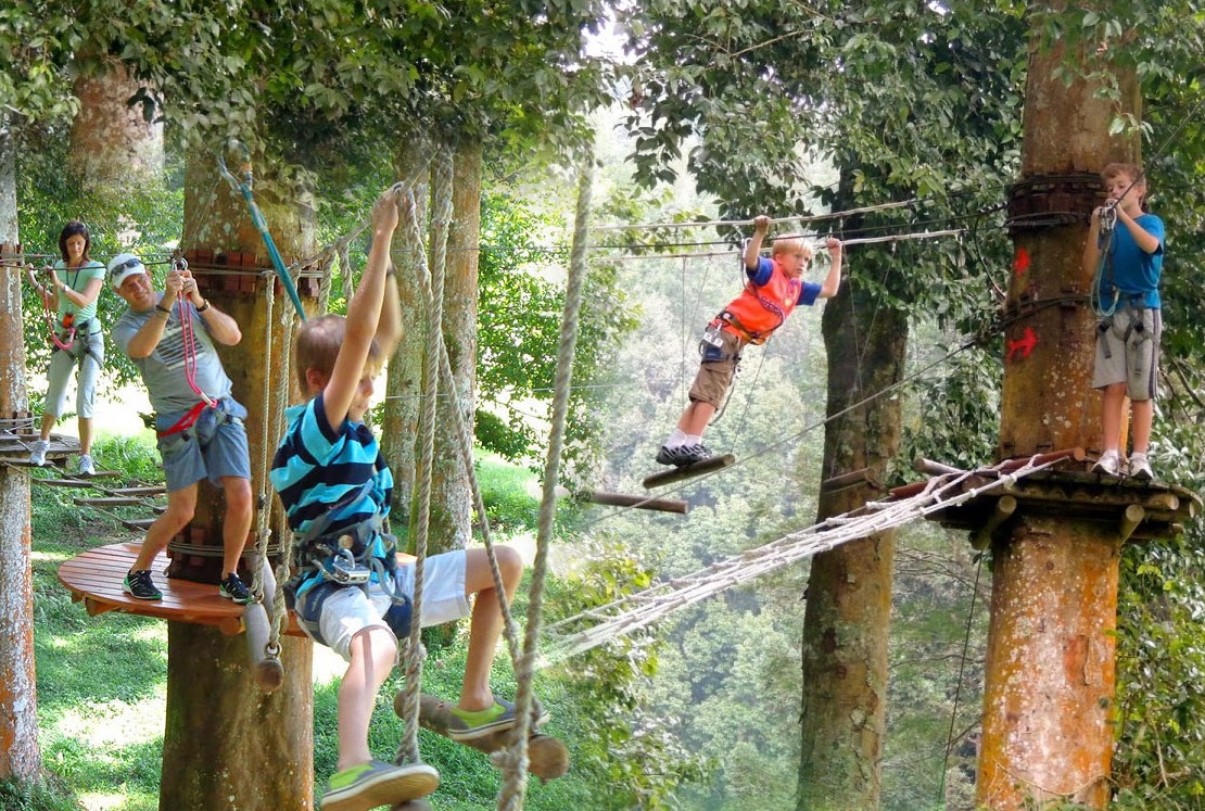 tree top challange for kids in bali