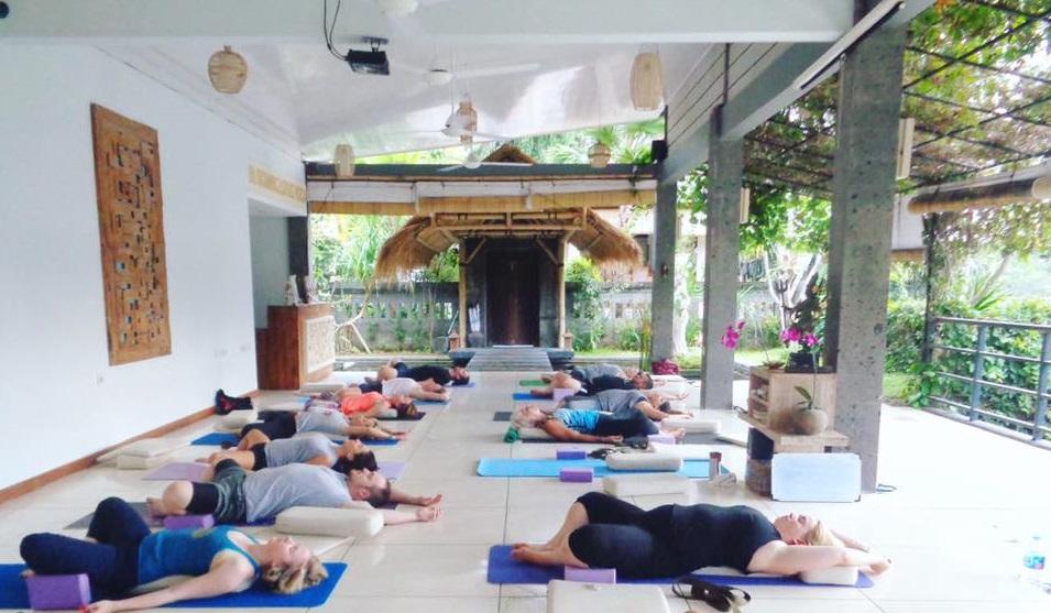 blooming lotus yoga center in ubud