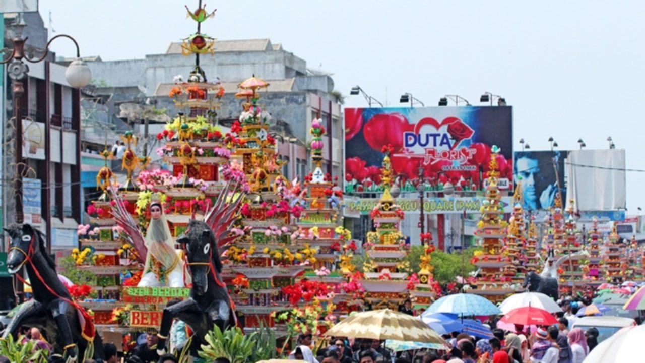 tabut festival in merdeka square bengkulu