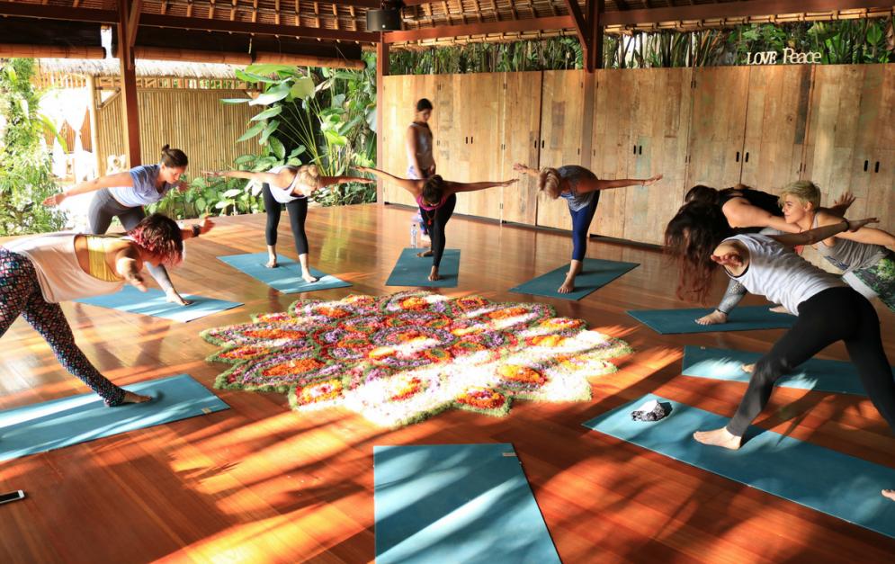 yoga activity in naya ubud