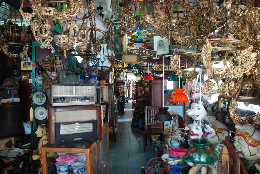 Shopping at Triwindu Antique Market Solo