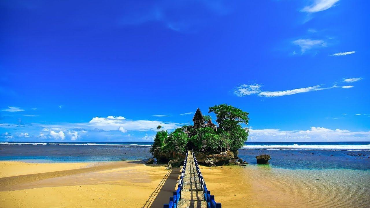 beautiful balekambang beach in malang