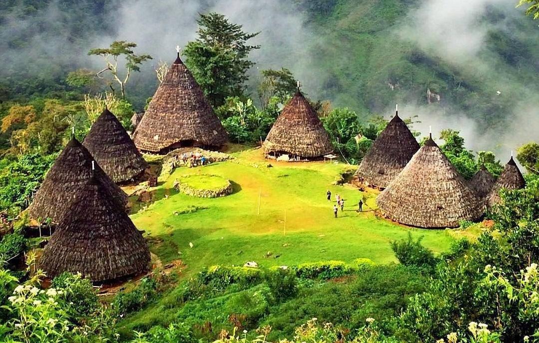 beautiful wae rebo village in flores