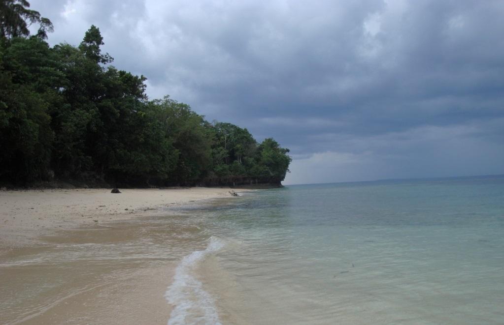 bosnik beach in papua province