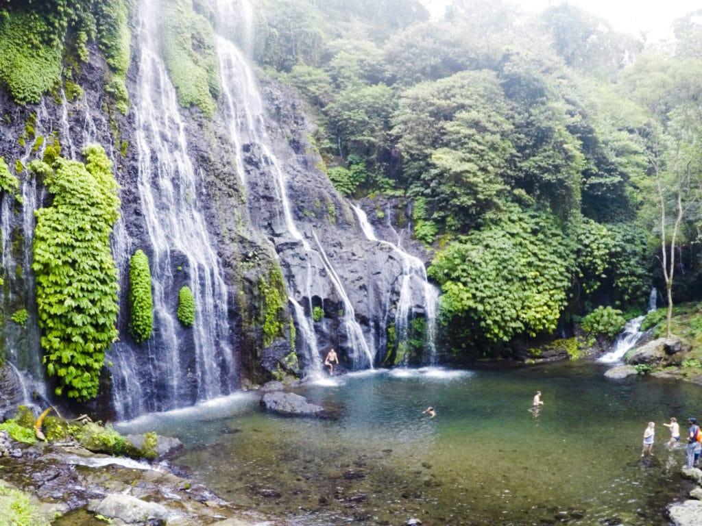 Banyumala Waterfall in Bali