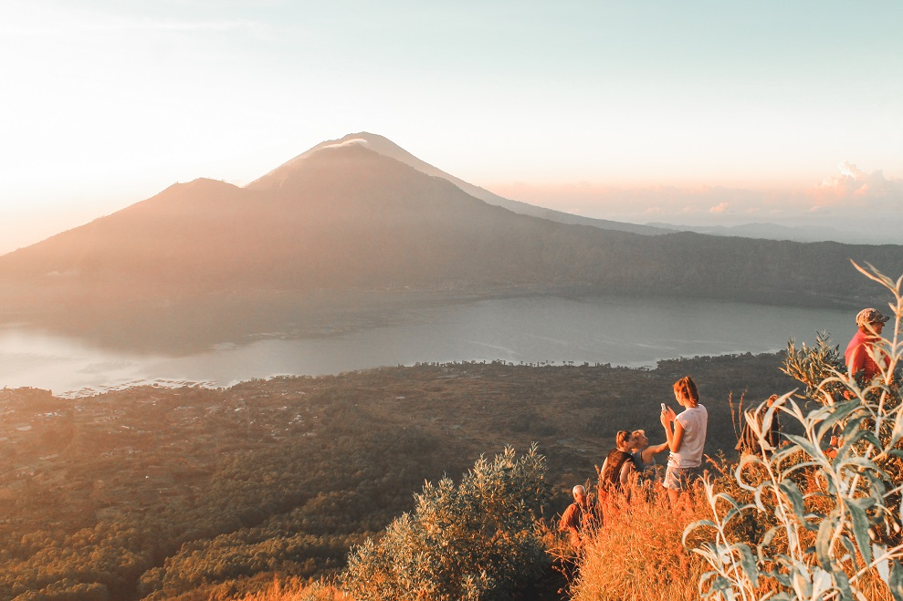 beautiful mount batur view