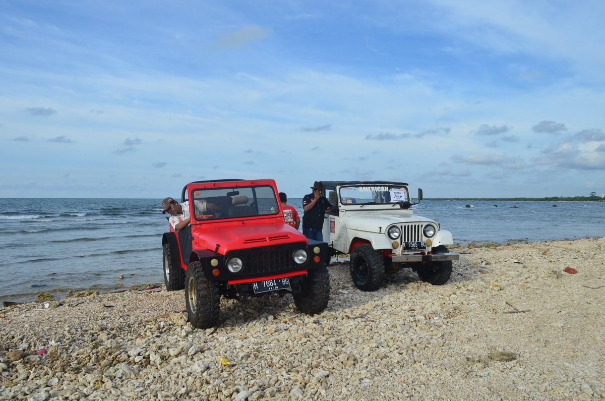 offroad near the beach in Indonesia