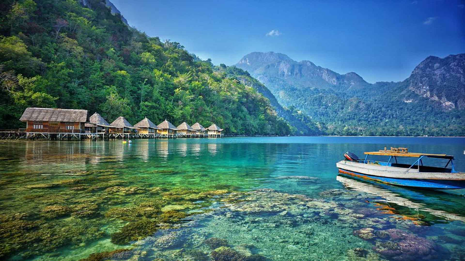 unspoiled ora beach in maluku