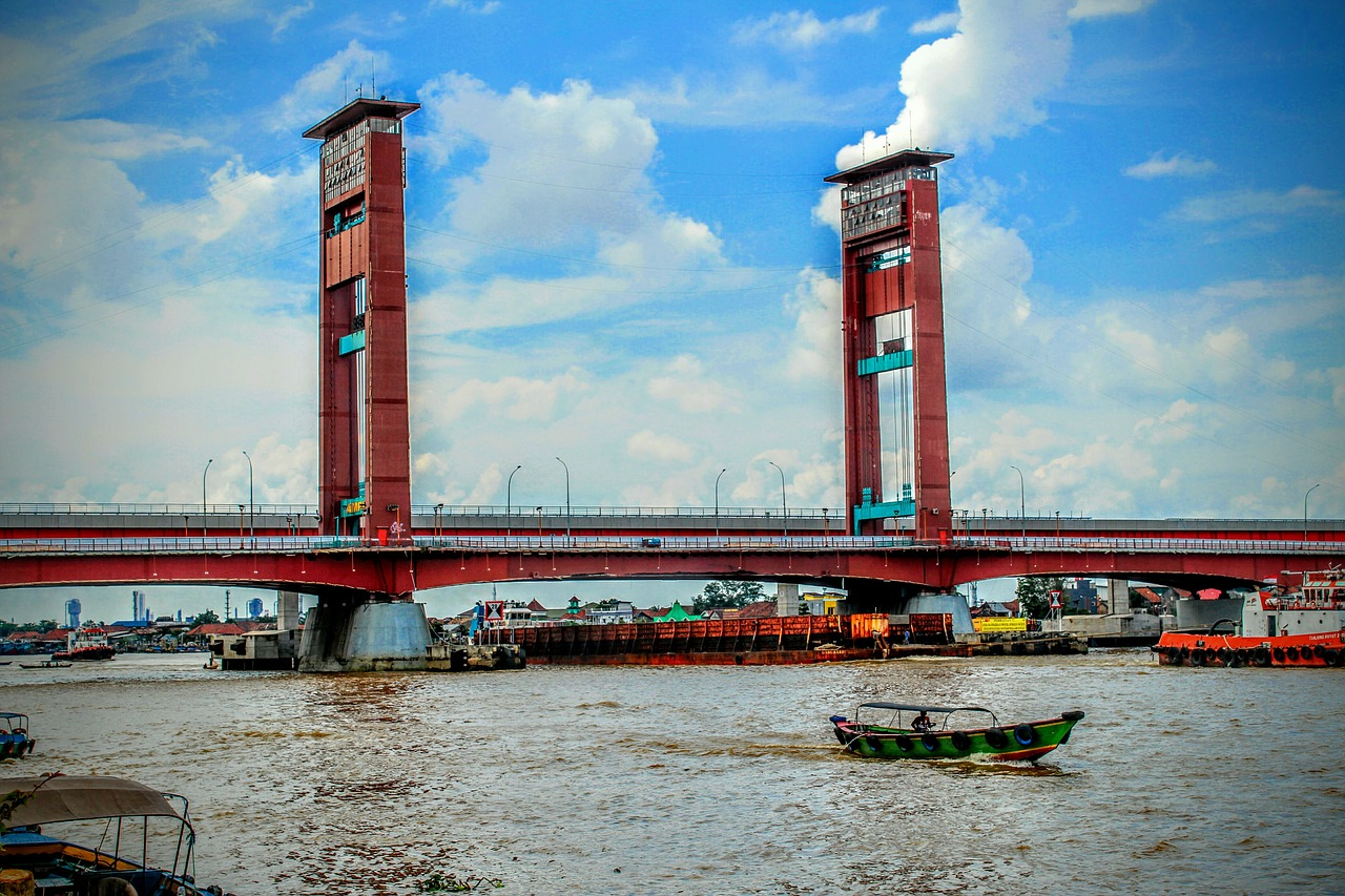 ampera bridge in palembang city