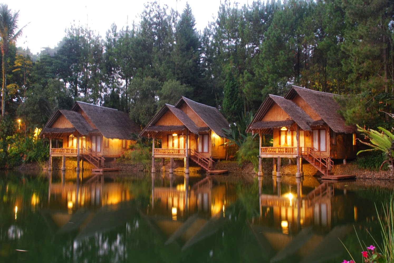 floating villas in indonesia