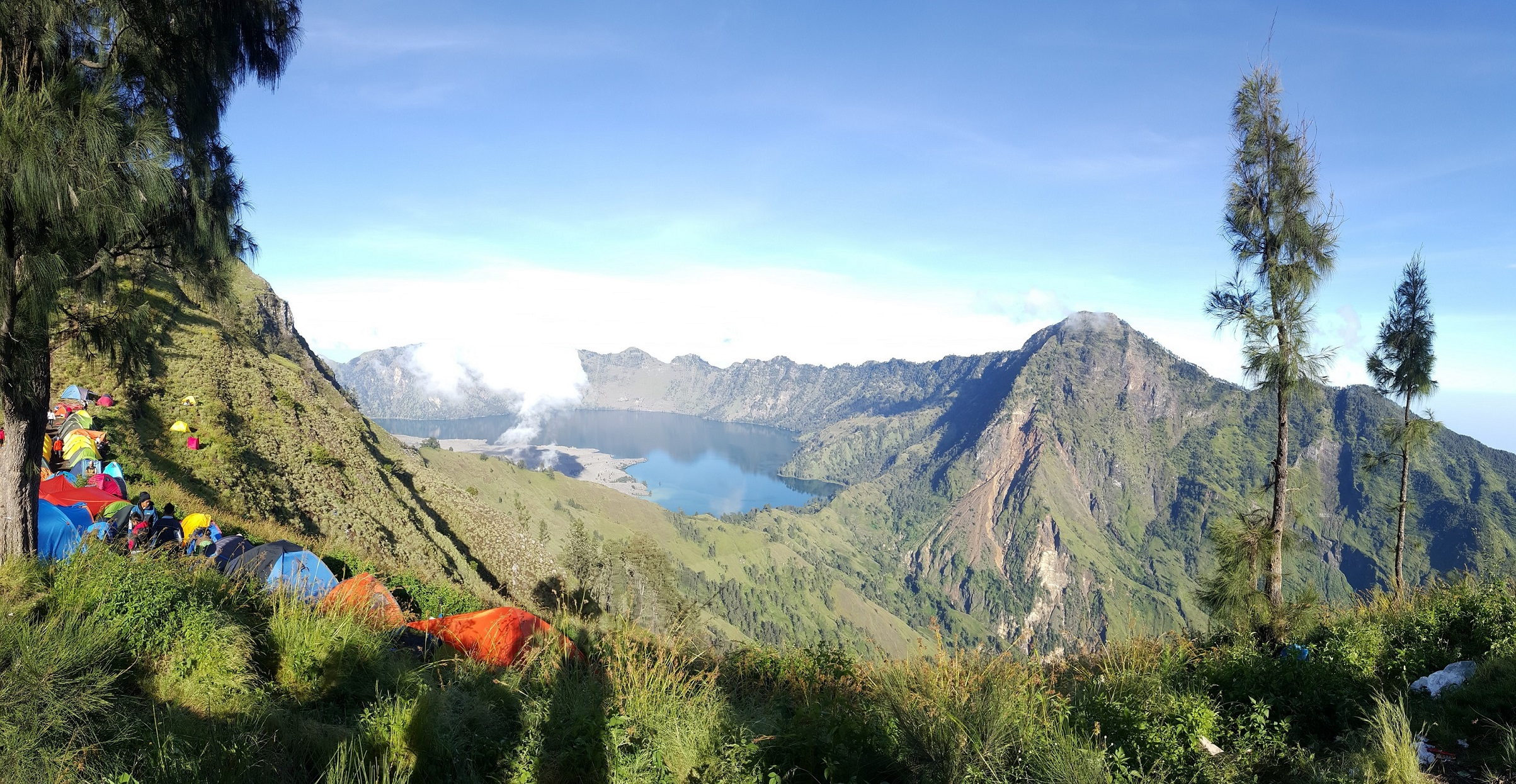 one of mount rinjani camp site