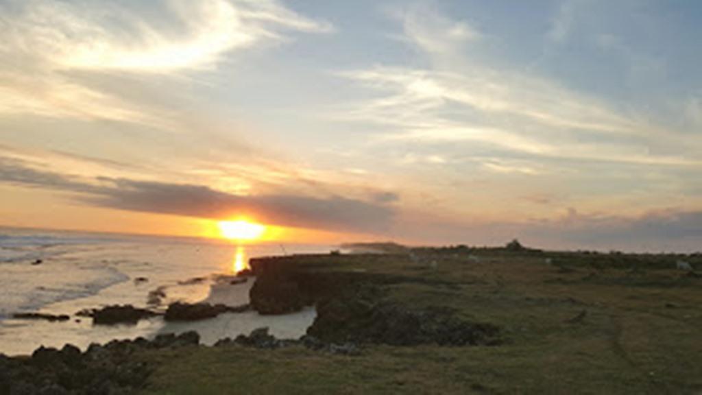 beautiful sunset from pero beach sumba