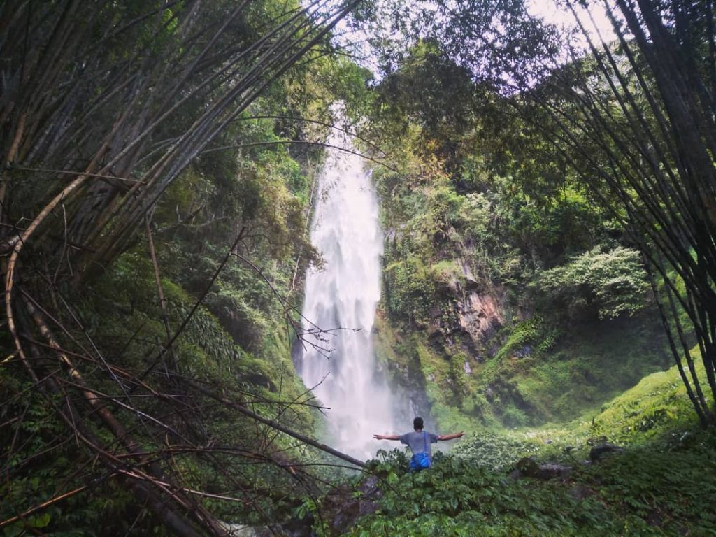 binanga bolon waterfall in samosir island