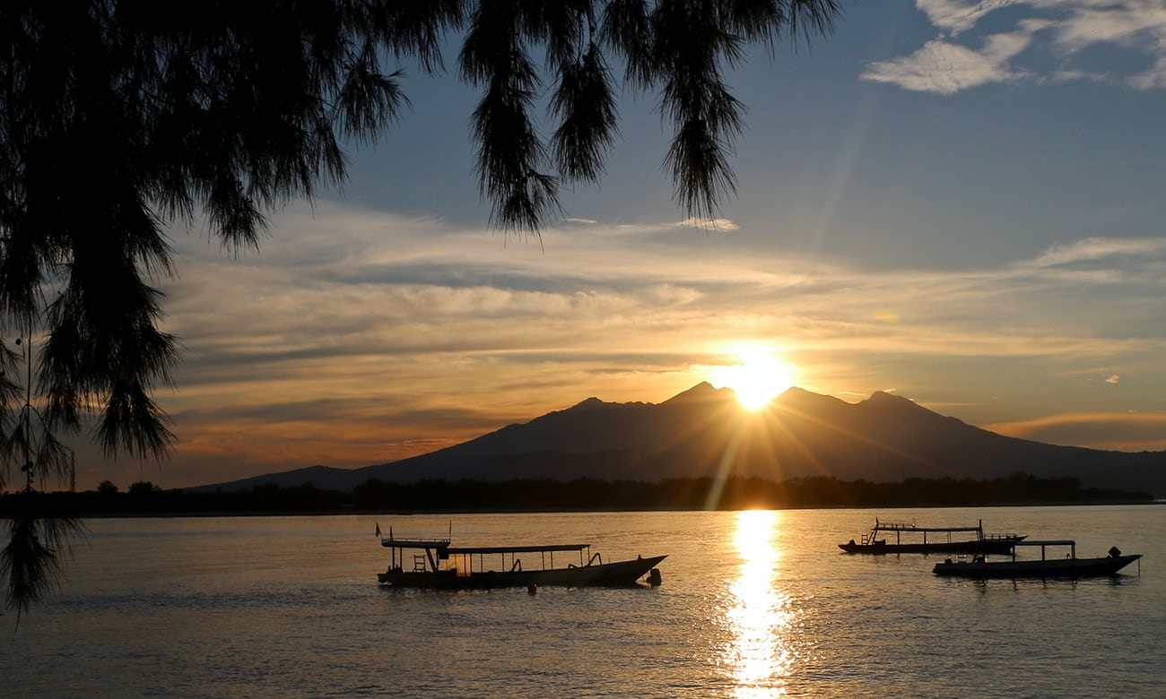 gili trawangan sunrise view