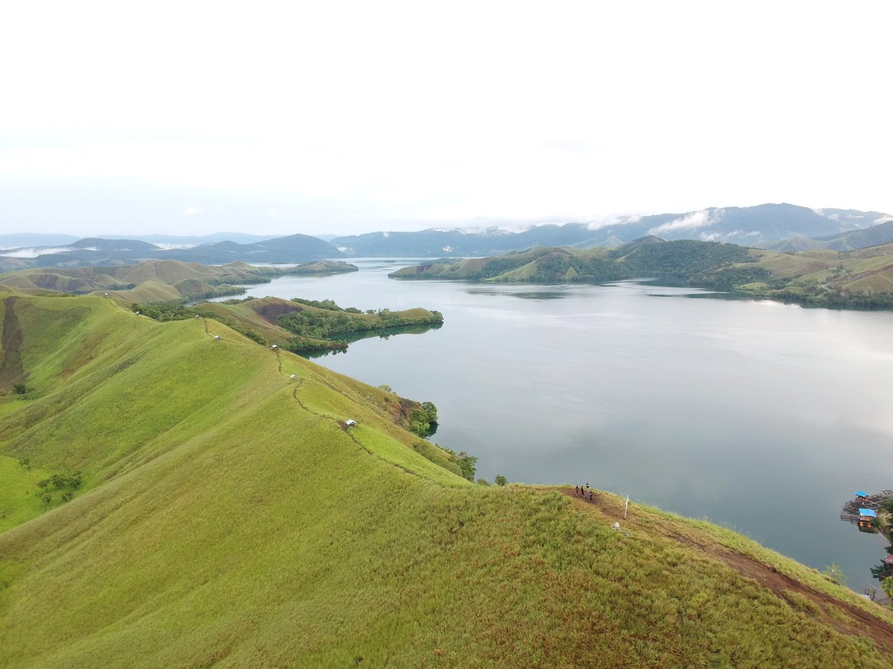gorgeous sentani lake in papua