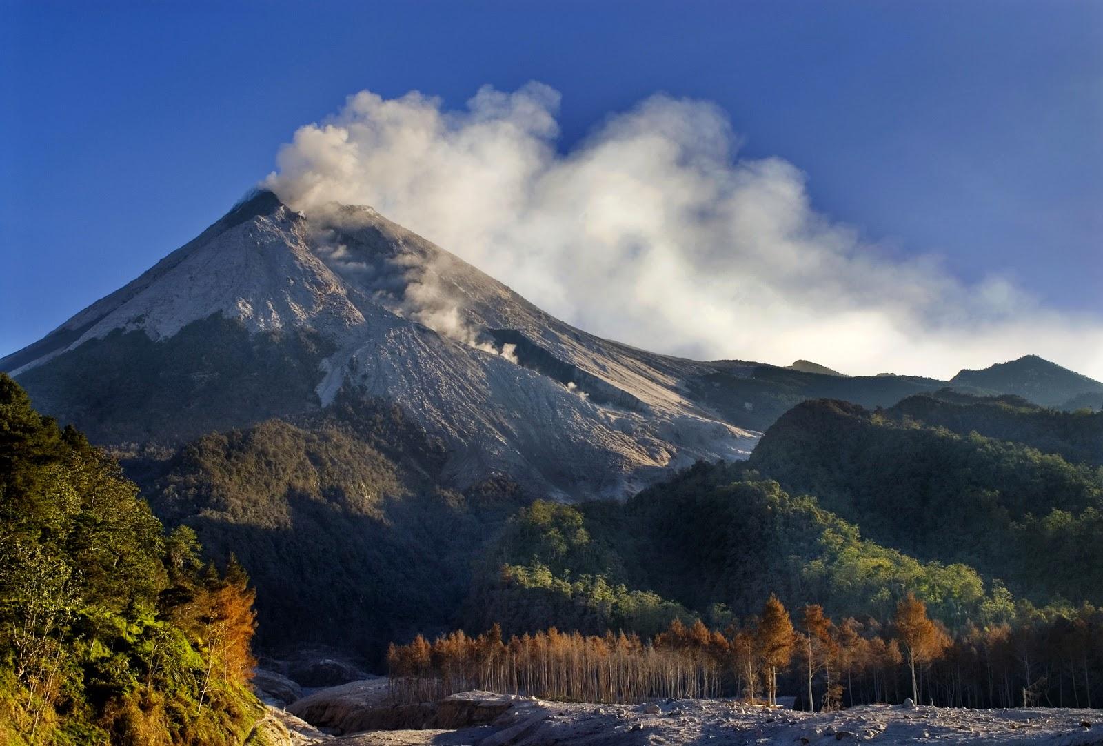 merapi volcano in jogja