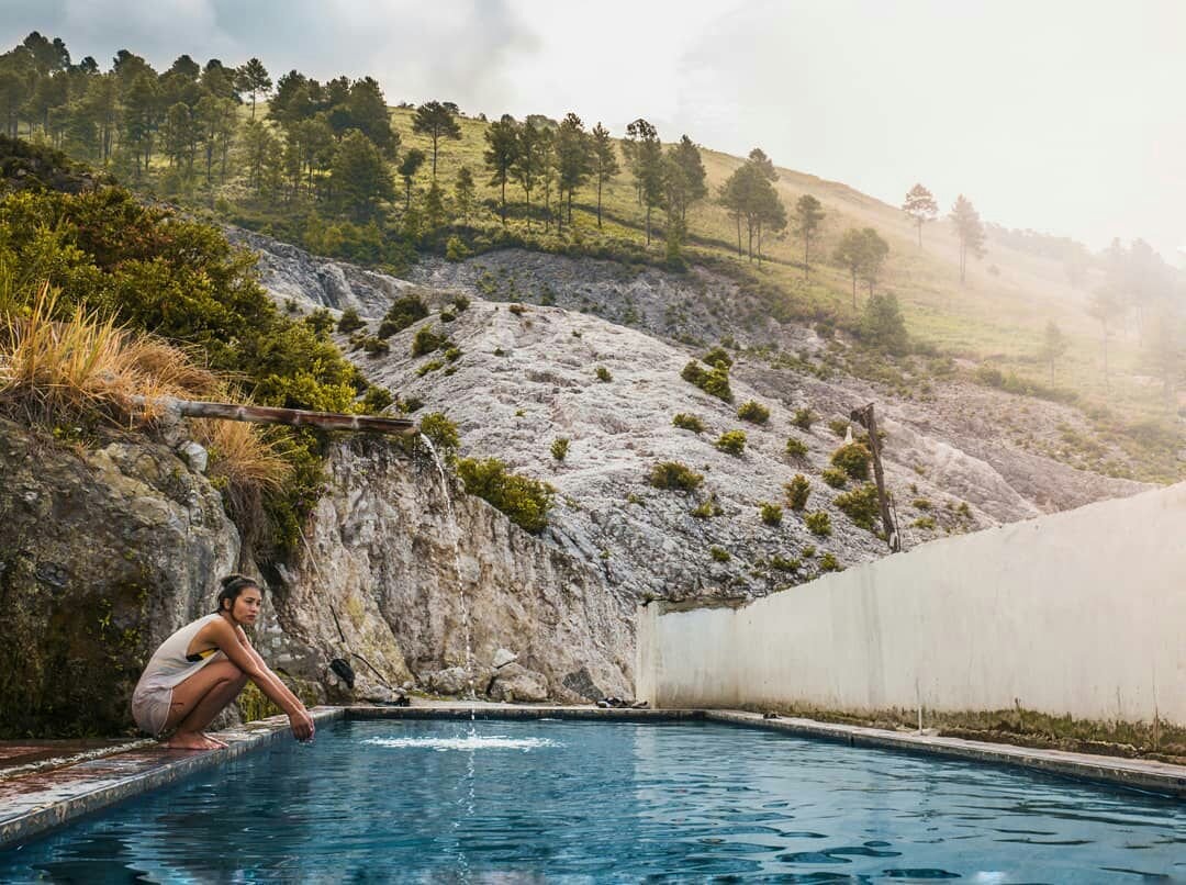 pangururan hot springs on samosir island