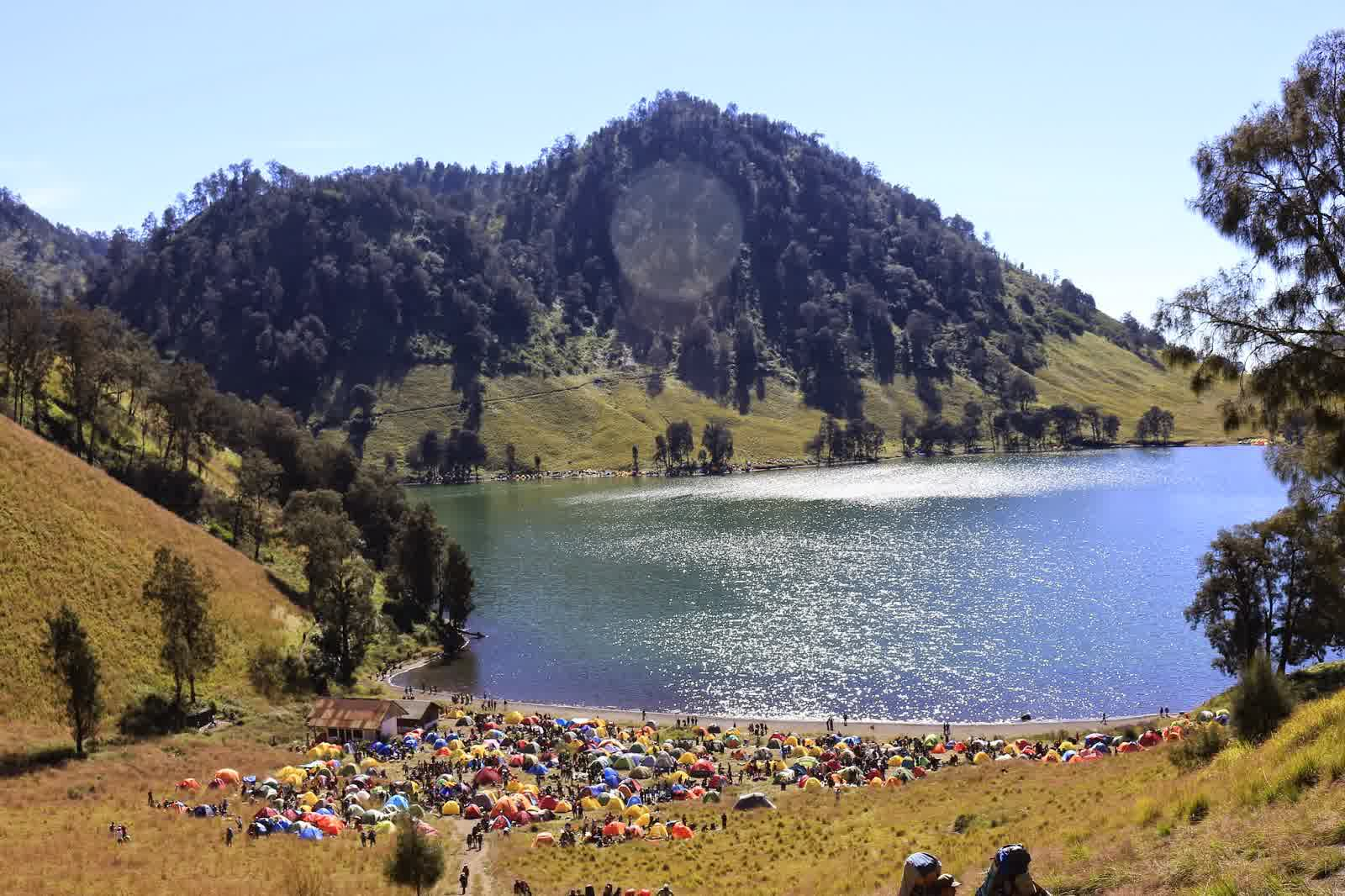 the amazing ranukumbolo lake in east java