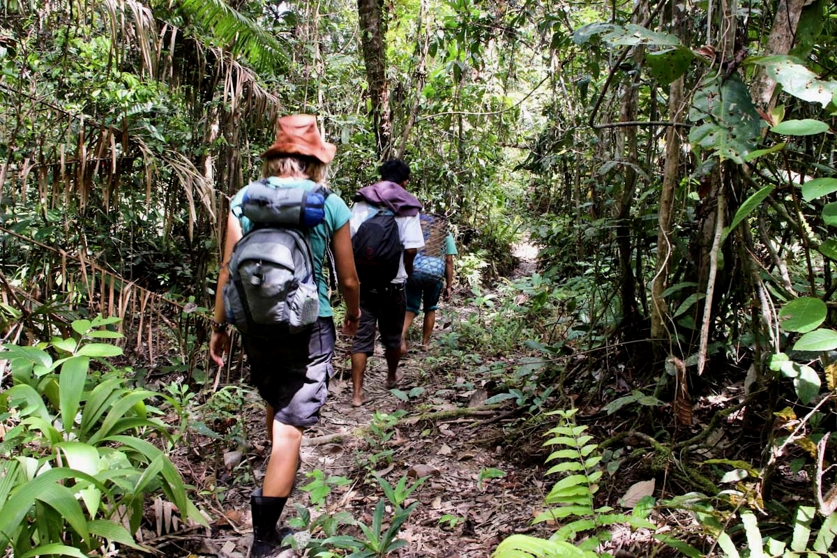 trekking activity in mentawai islands
