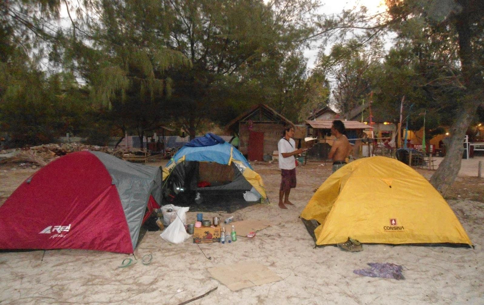 camping in gili nanggu lombok