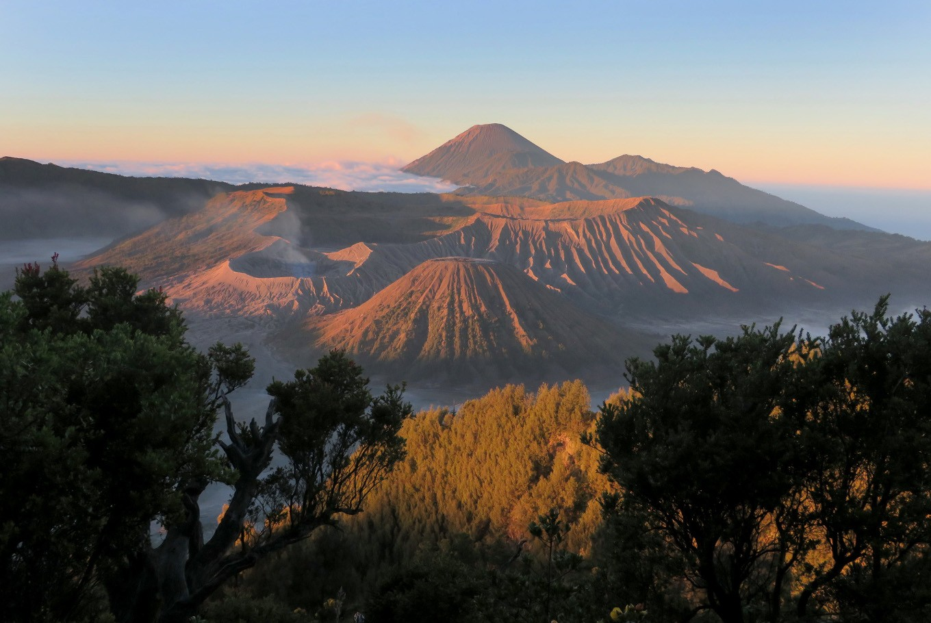 mount bromo scenery from distance