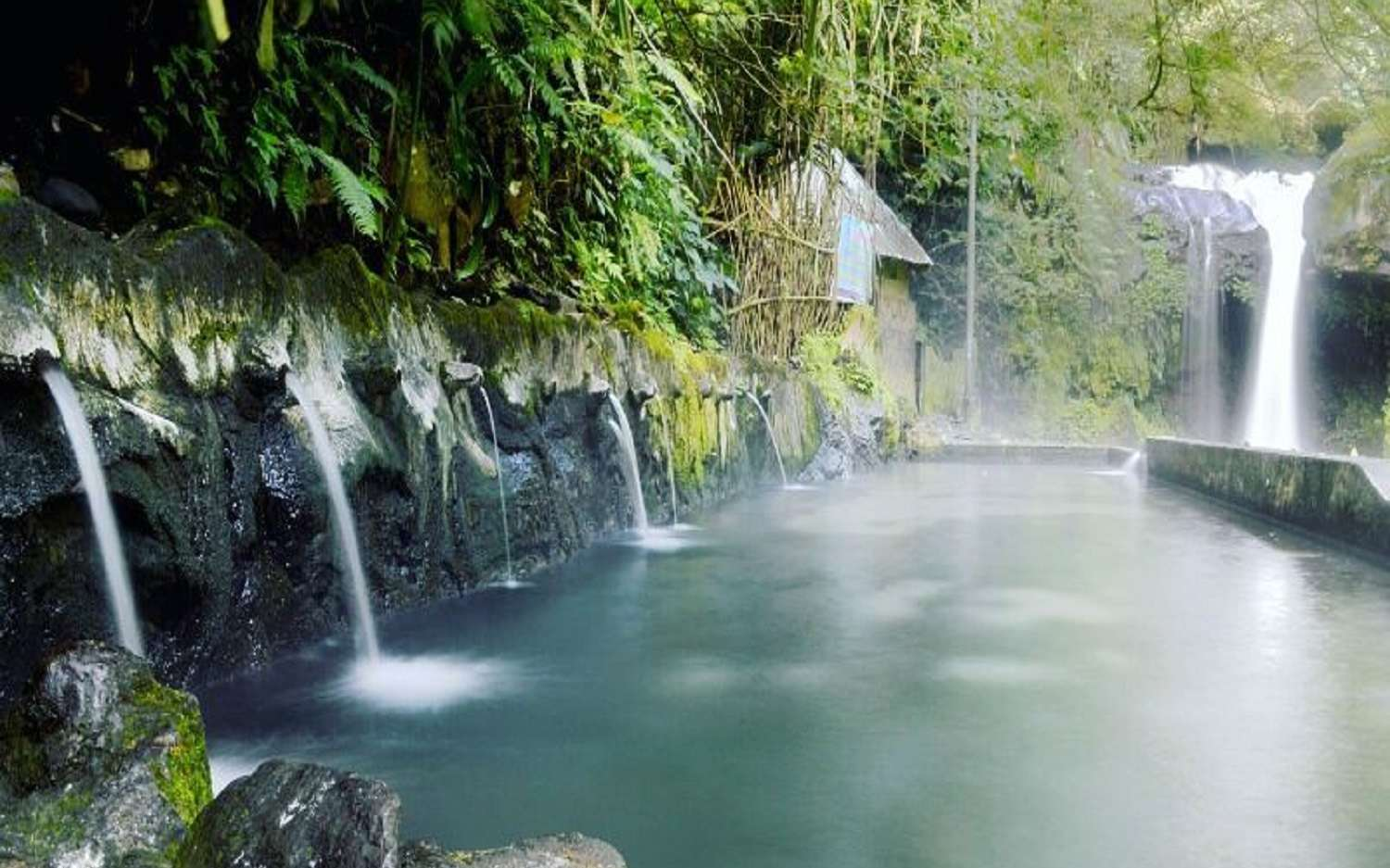 bathing place in guci natural hot spring
