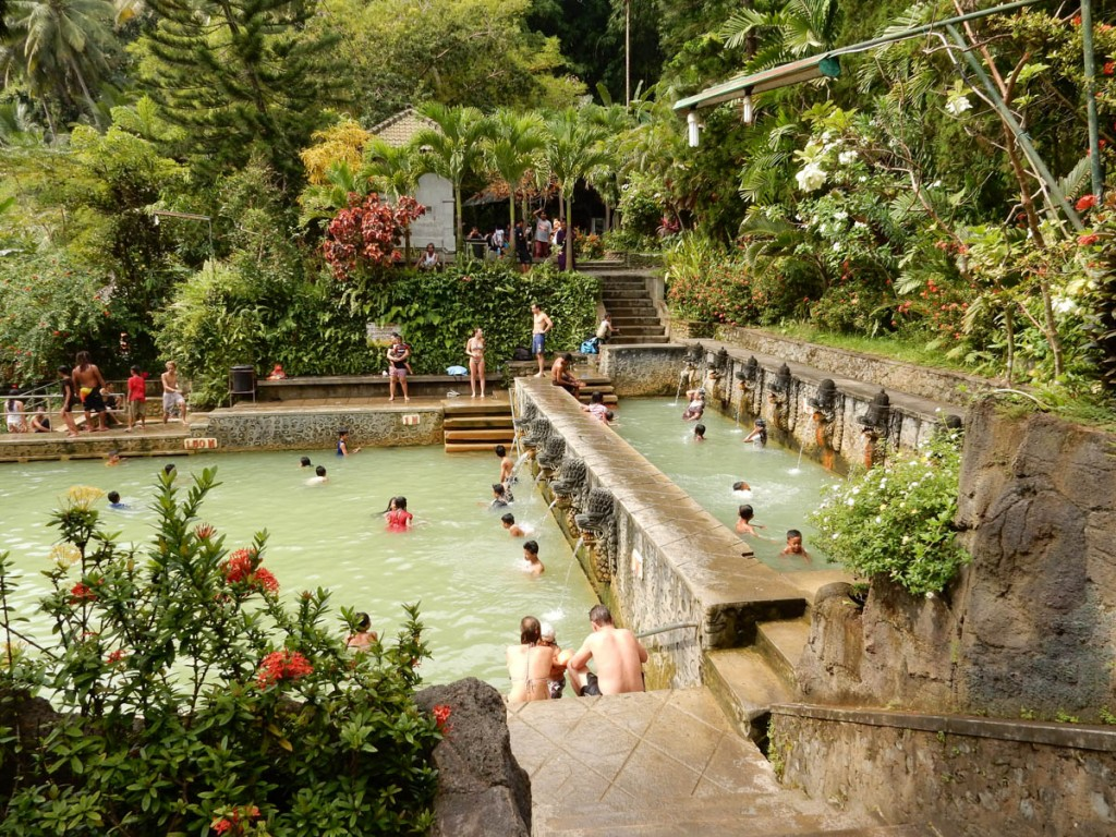 beautiful banjar hot spring in buleleng regency
