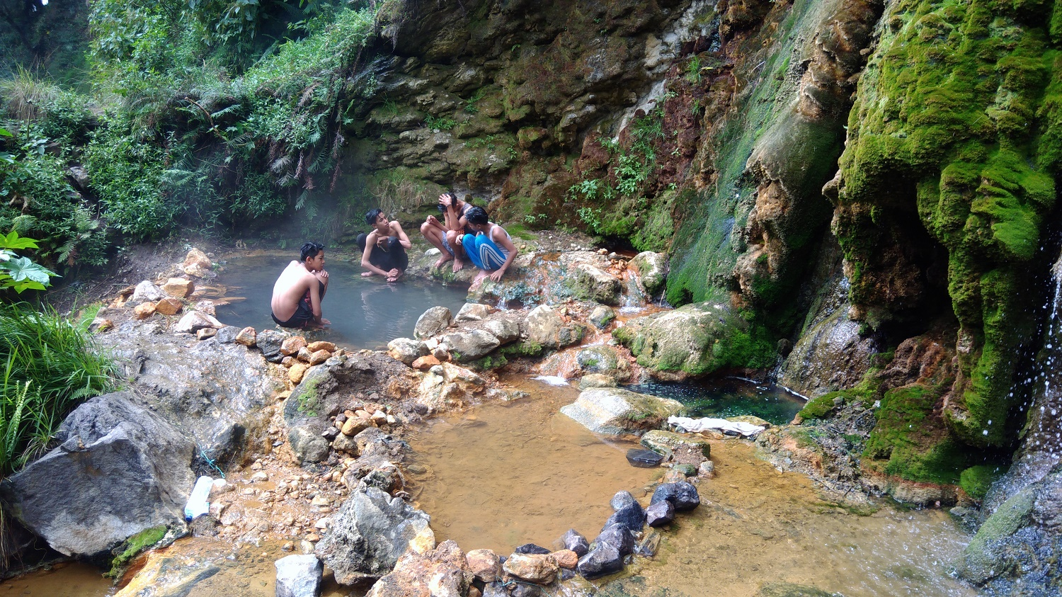 gua susu natural hot spring in rinjani lombok
