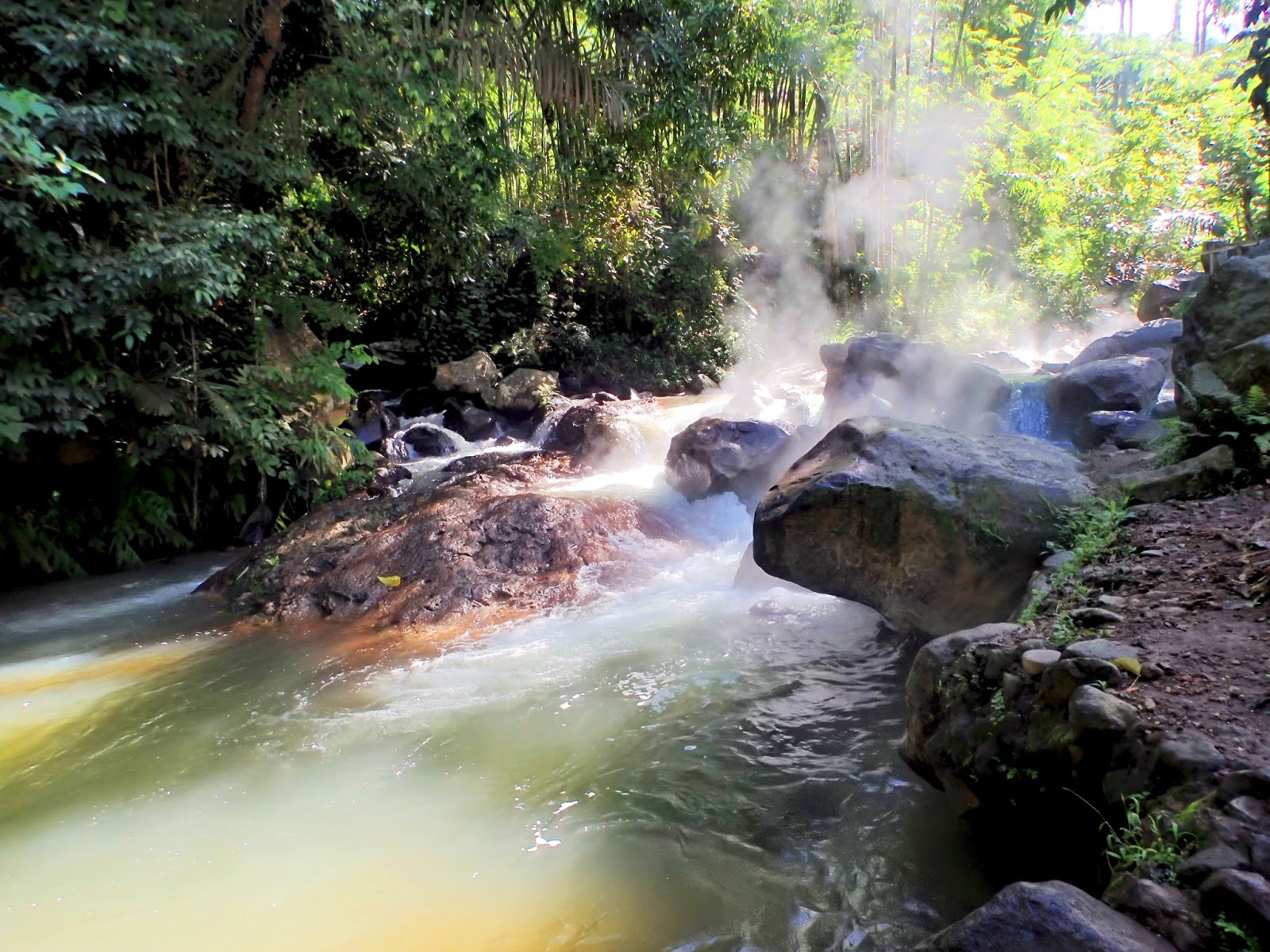 malanage natural hot spring in flores