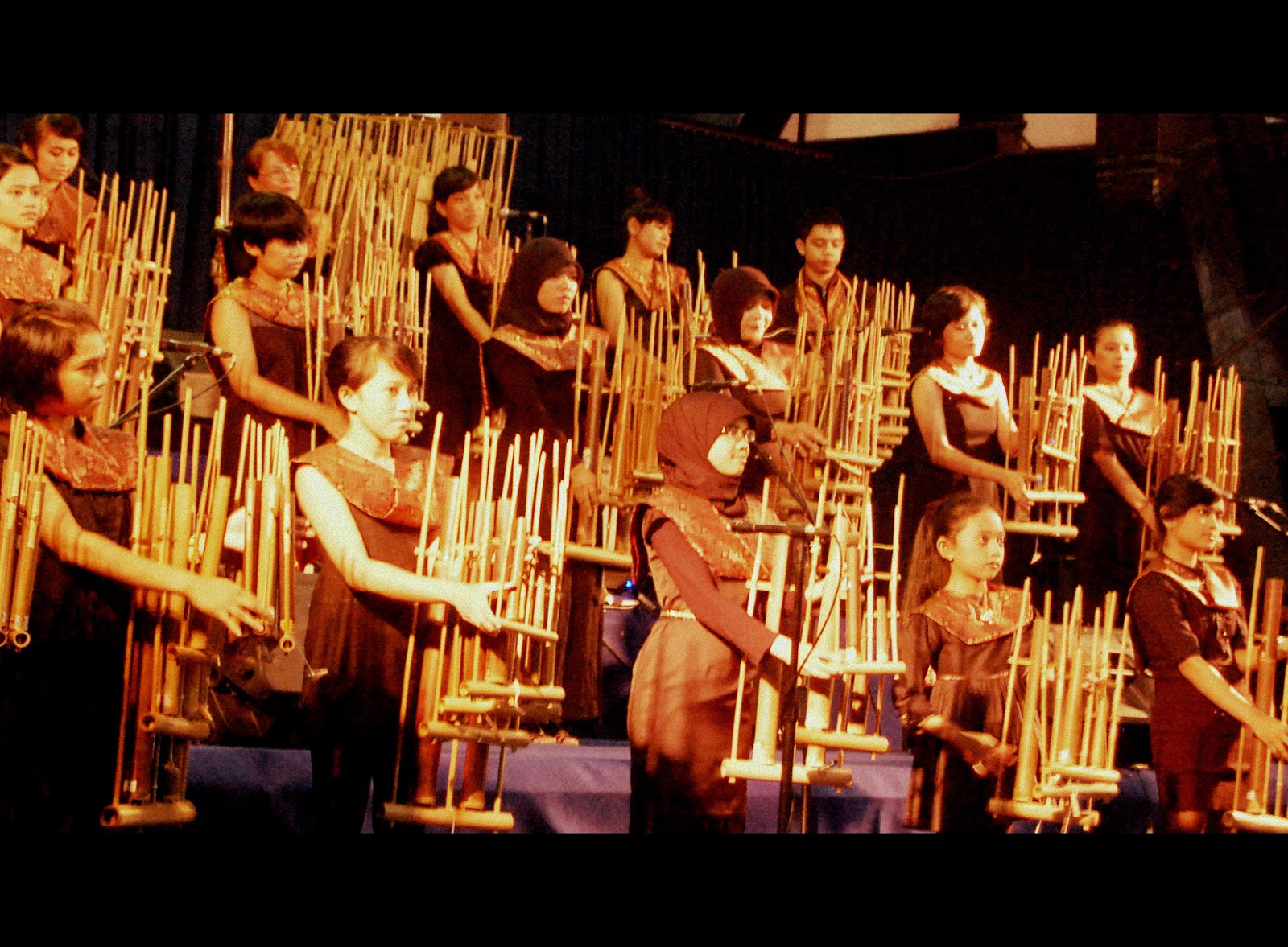 Angklung is a traditional musical instrument originated from West Java