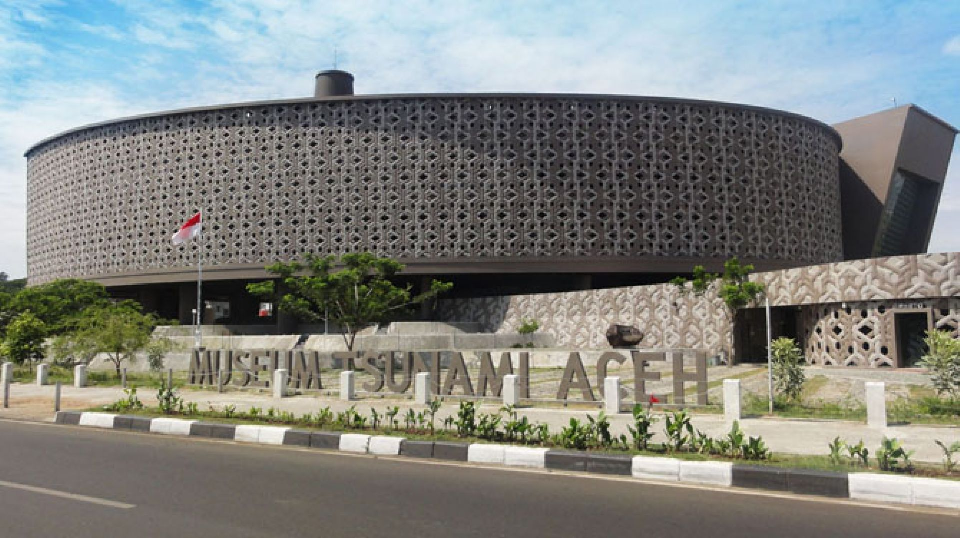 The Aceh Tsunami Museum is a symbolic monument