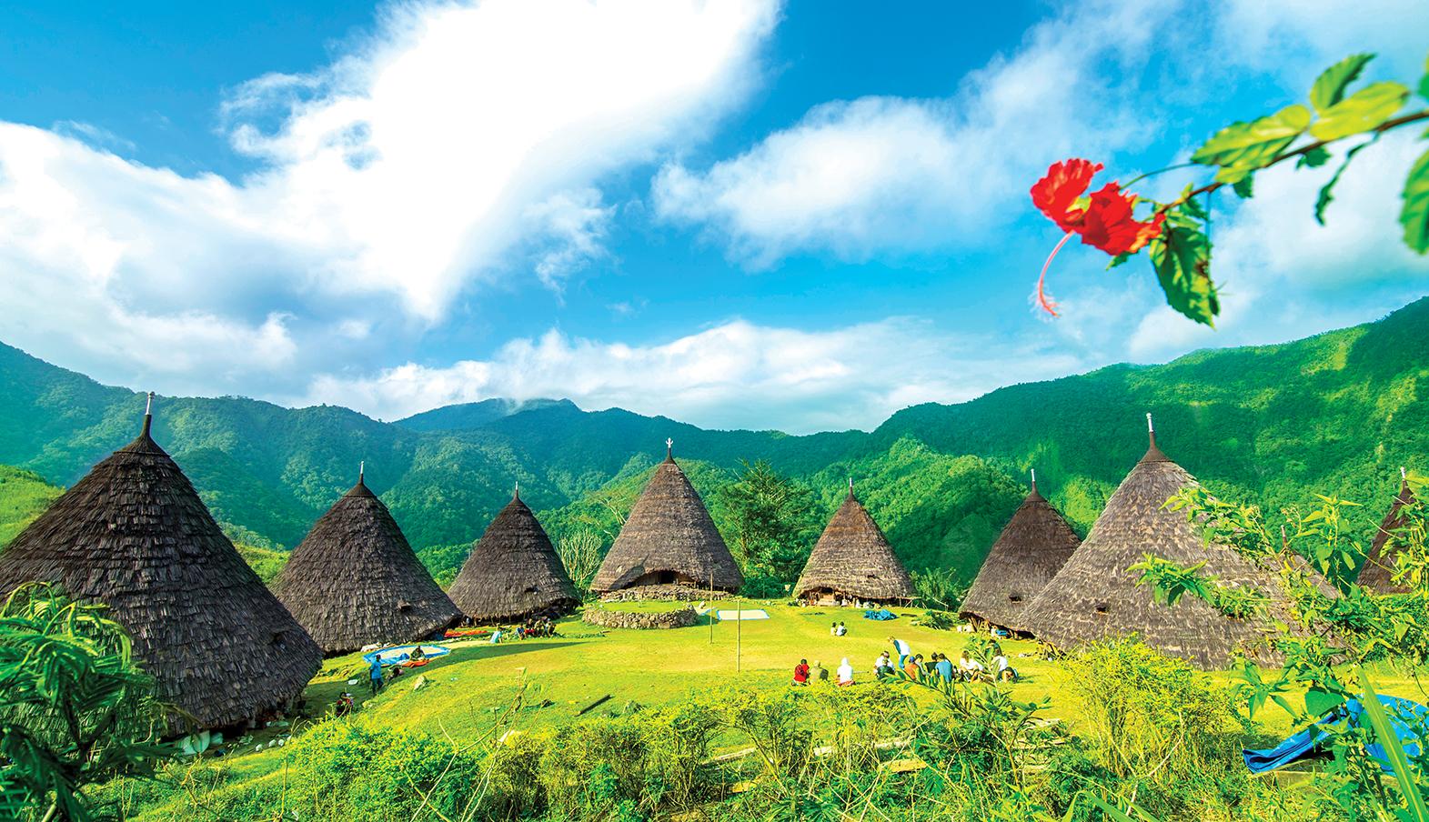 the unique wae rebo village in manggarai flores island