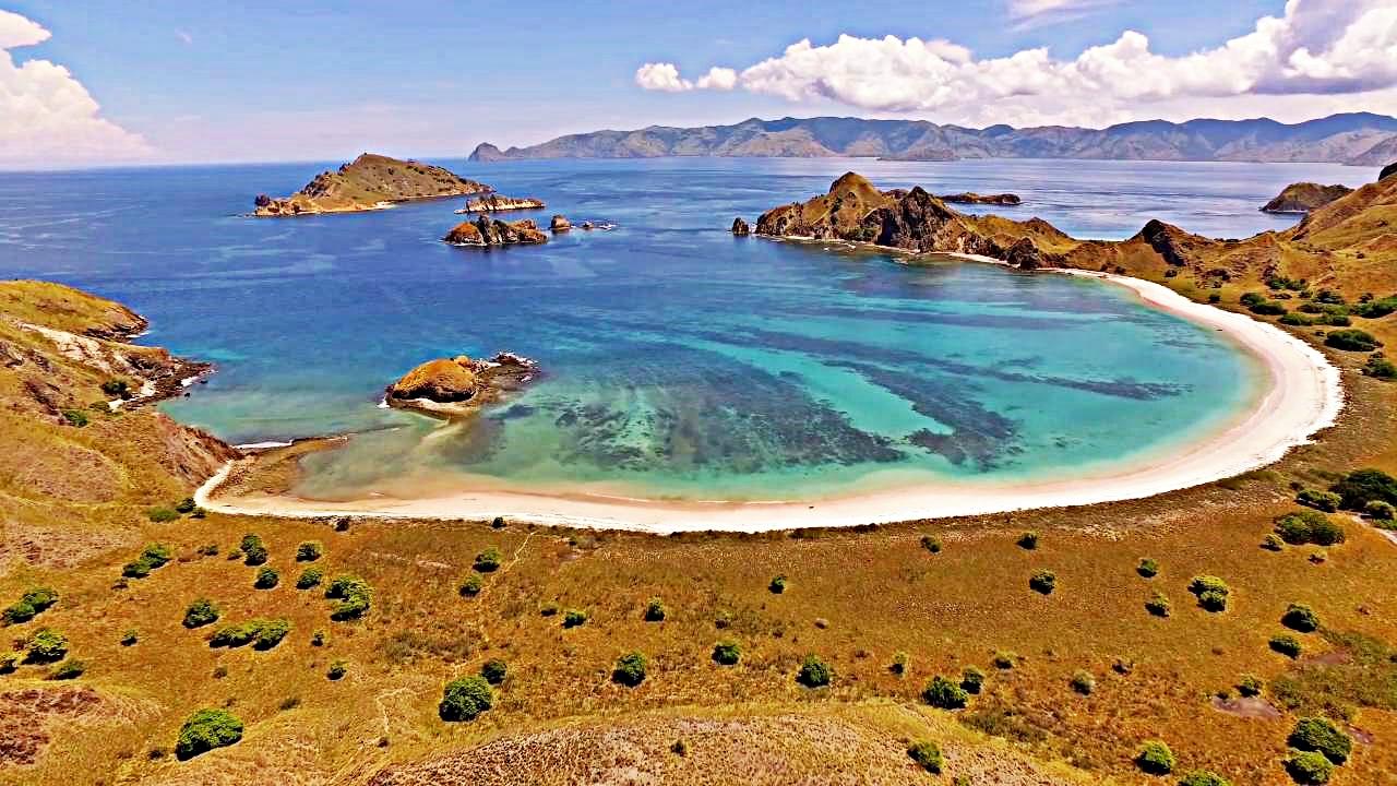 beautiful padar island beach in east nusa tenggara