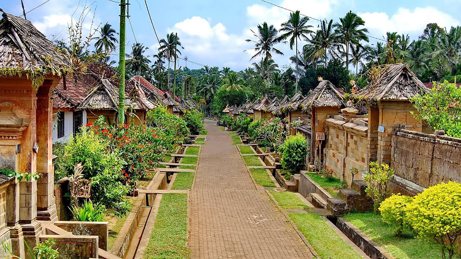 the ancient village of penglipuran in bangli regency