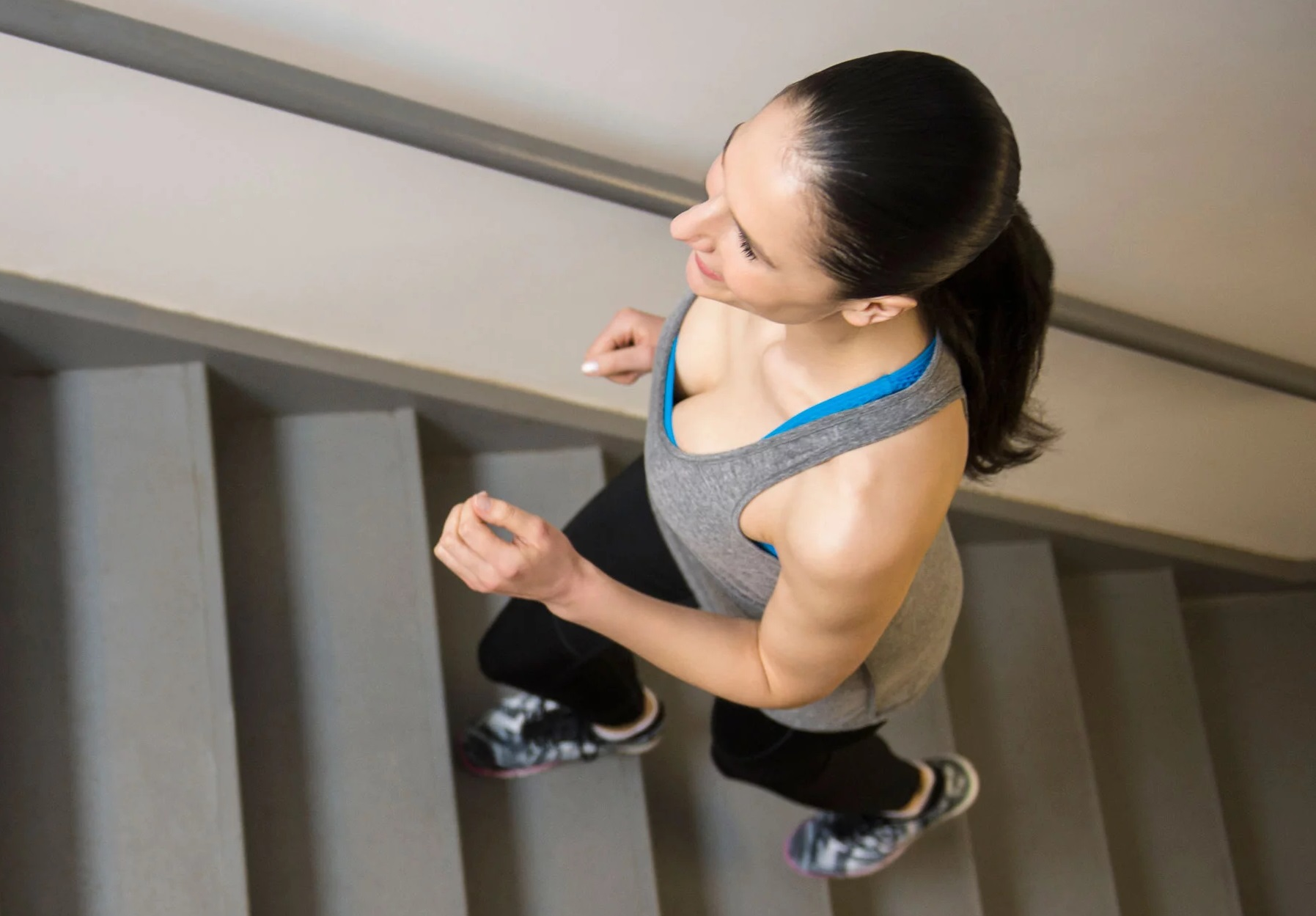 Strength training at home using stairs