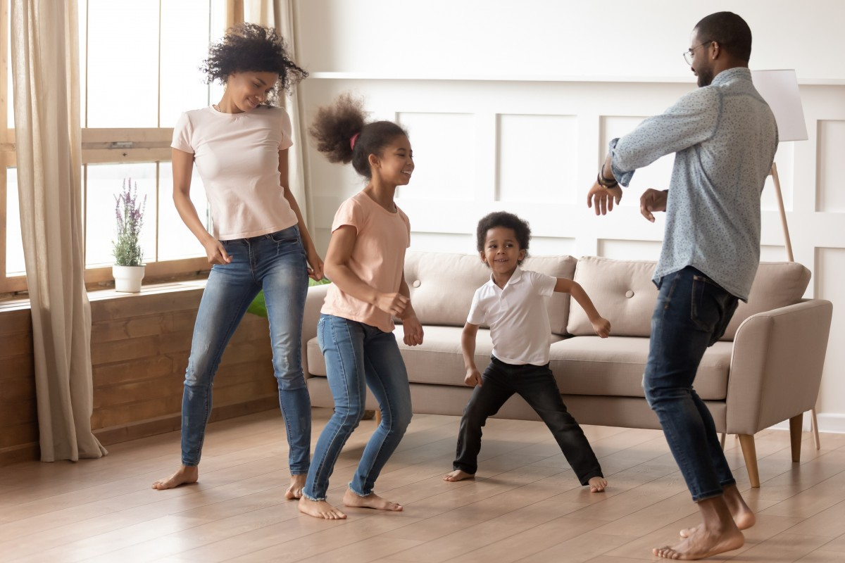 dancing activity during stay at home campaign
