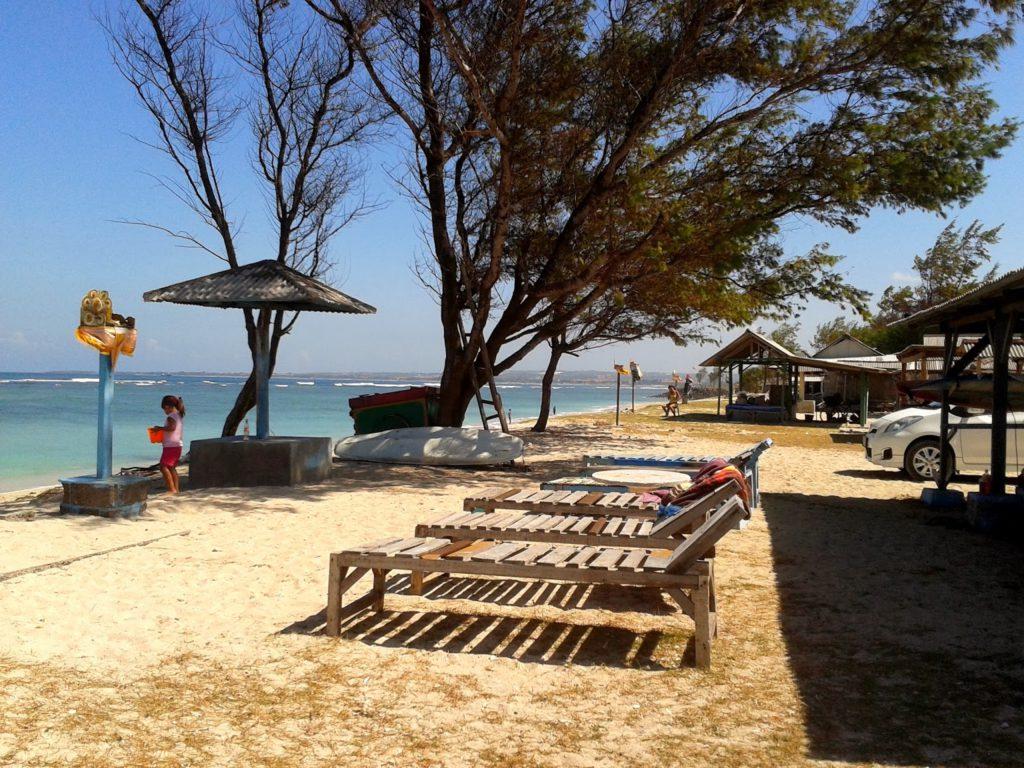campsite in serangan beach