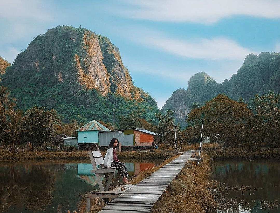 rammang rammang view is almost similar to guilin in china